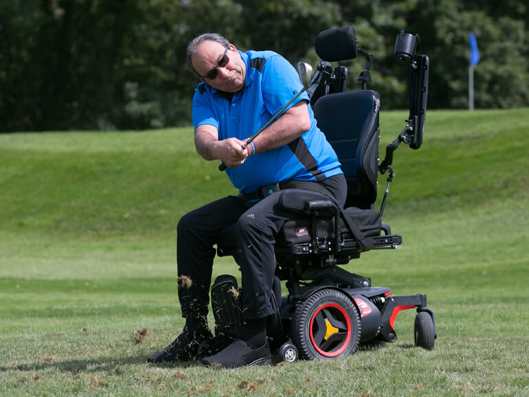 Patient reached his goal of restoring physical and functional ability and is able to play golf again.